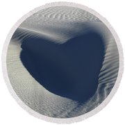 Hearts In The Desert Round Beach Towel by Vivian Christopher