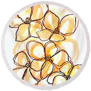 Hearts Of Gold Round Beach Towel