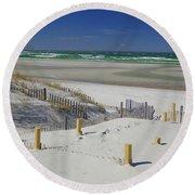 Heaven At Mayflower Beach Round Beach Towel