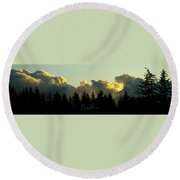 Heaven Is Not Far Round Beach Towel