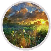 Heaven Knows Round Beach Towel