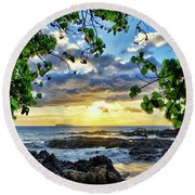 Heaven On Maui Round Beach Towel