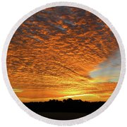 Heaven Sent Golden Sunrise Round Beach Towel