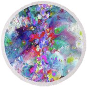 Heavenly Cosmos Series 1976.032914invertfadediff Round Beach Towel