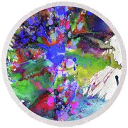 Heavenly Cosmos Series 1977.032914invertfadediff Round Beach Towel