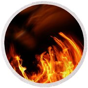 Heavenly Flame Round Beach Towel by Donna Blackhall