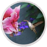 Heavenly Garden Round Beach Towel by John Kolenberg