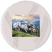 Heavenly Home Round Beach Towel
