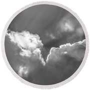 Heavenly Light Round Beach Towel