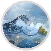 Heavenly Shells Round Beach Towel by Leanne Seymour