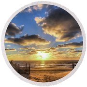 Heavenly Skies At The Jersey Shore Round Beach Towel