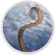 Heavenly Sky Hook Round Beach Towel