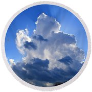 Round Beach Towel featuring the photograph Heavenly Sunlight by Kathryn Meyer