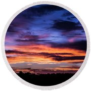 Heavenly Sunrise Round Beach Towel
