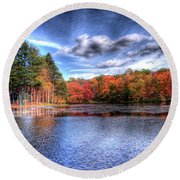 Heaven's Blue Round Beach Towel