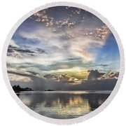 Heaven's Light - Coyaba, Ironshore Round Beach Towel