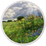 Heaven's Light  Round Beach Towel