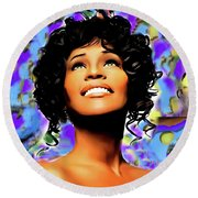 Heaven's Songbird Round Beach Towel