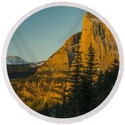 Heavy Runner Mountain Round Beach Towel