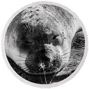 Heavy Sleeper Round Beach Towel