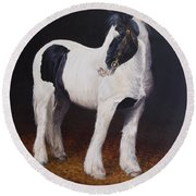 Heavy Stallion  Glin Fair Round Beach Towel