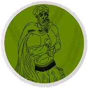 Hebrew Hero Round Beach Towel