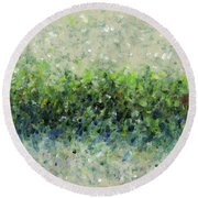 Hedgerow Round Beach Towel by Lynne Taetzsch