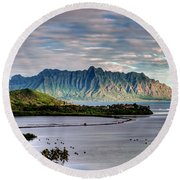He'eia Fish Pond And Kualoa Round Beach Towel