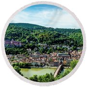 Round Beach Towel featuring the photograph Heidelberg Germany by David Morefield