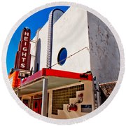 Heights Movie Theater Round Beach Towel