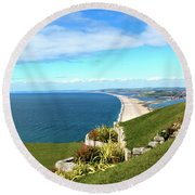 Heights Of Fortune Round Beach Towel by Baggieoldboy