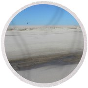 Helecopter Shirley New York Round Beach Towel