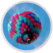 Helen Hot Air Balloon Round Beach Towel
