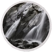 Helen Hunt Falls Round Beach Towel