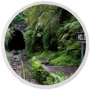 Helensburgh Old Station Round Beach Towel