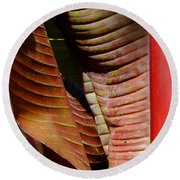 Heliconia Lines Round Beach Towel