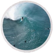 Tubed From Above. Round Beach Towel