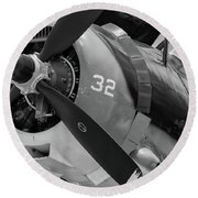 Helldiver's Nose - 2017 Christopher Buff, Www.aviationbuff.com Round Beach Towel