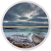 Hellishly Heavenly Round Beach Towel by Peter Tellone