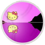 Hello Kitty Sunrise Round Beach Towel