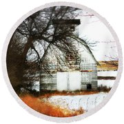 Round Beach Towel featuring the photograph Hello There by Julie Hamilton