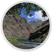Hells Canyon Snake River Round Beach Towel