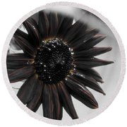 Hells Sunflower Round Beach Towel