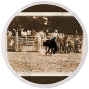 Helluva Rodeo-the Ride 2 Round Beach Towel