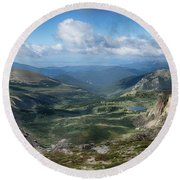 Helms Lake Valley 2 Round Beach Towel