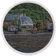 Round Beach Towel featuring the photograph Help 4 by Timothy Latta