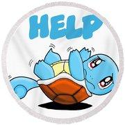 Help Round Beach Towel