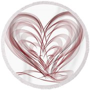 Help For The Healing Hearts Round Beach Towel