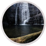 Helton Creek Falls Georgia Round Beach Towel