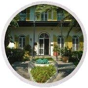 Hemingways House Key West Round Beach Towel